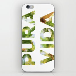 Pura Vida Costa Rica Palm Trees iPhone Skin