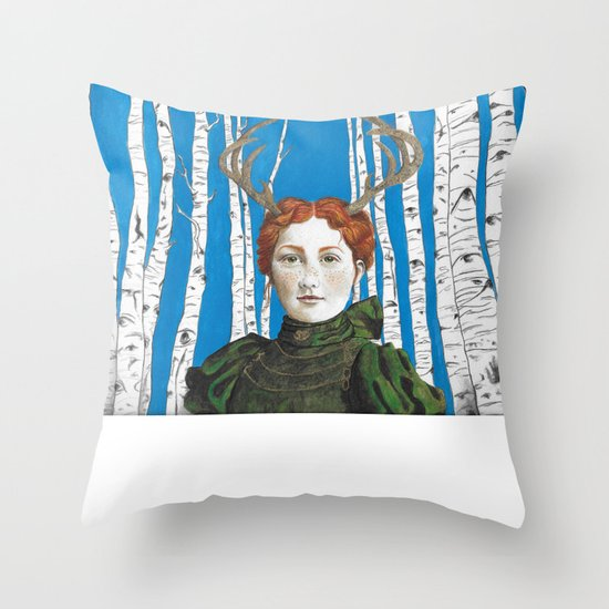 Down in the Aspens Throw Pillow