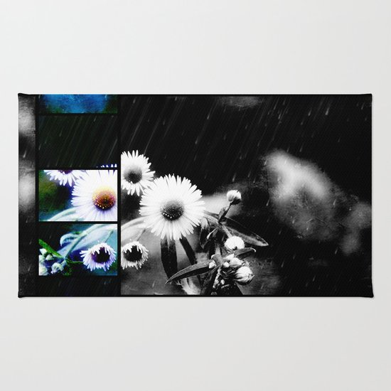 Asters Aglow Photo Collage Rug