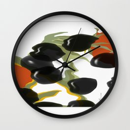 antipasto / olives Wall Clock