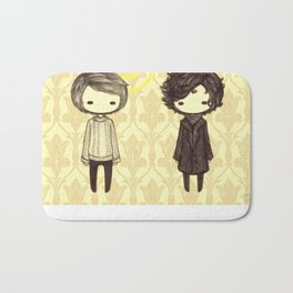 Sherlock and John Chibis Bath Mat
