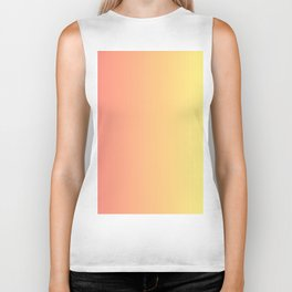 Color gradient 14. red and yellow. abstraction,abstract,minimalism,plain,ombré Biker Tank