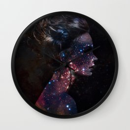 Galaxy Eyes Wall Clock