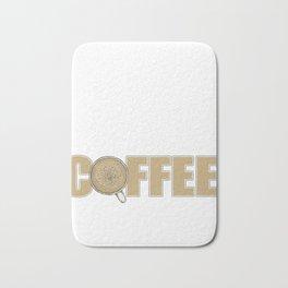 Funny Math Teacher design Powered By Coffee Tee Gift Bath Mat