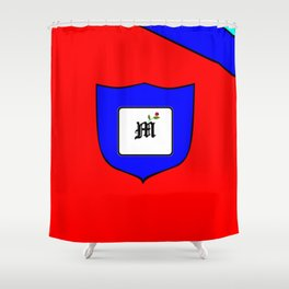 A Family Crest with a Capital Letter M, Mu Shower Curtain