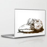 shih tzu Laptop & iPad Skins featuring Little Shih Tzu by Louise Hubbard