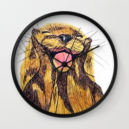 Happy otter Wall Clock