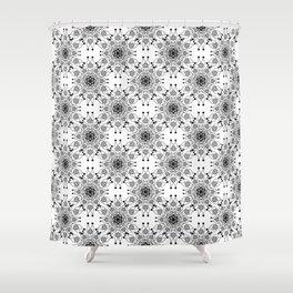 Black lace print elegant ornament Shower Curtain