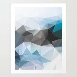 Blue Poly Art Print
