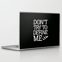 divergent Laptop & iPad Skins featuring Don't Try to Define Me - Black (Divergent) by All Things M