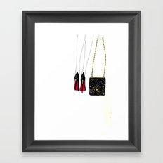 Red soles Framed Art Print