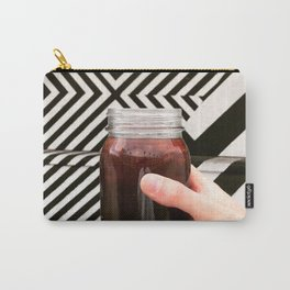 Artistic Cold Brew Shot 3 // Mason Jar Caffeine & Street Art Barista Coffee Shop Wall Hanging Photo Carry-All Pouch