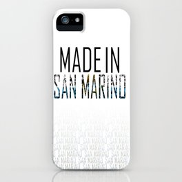 Made In San Marino iPhone Case