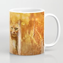 Little Tiger in the Grass Coffee Mug