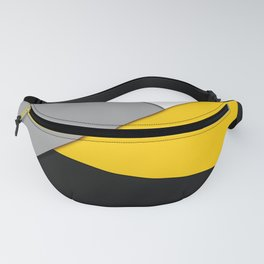 Simple Modern Gray Yellow and Black Geometric Fanny Pack