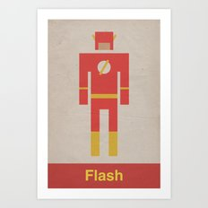 Retro Flash Art Print