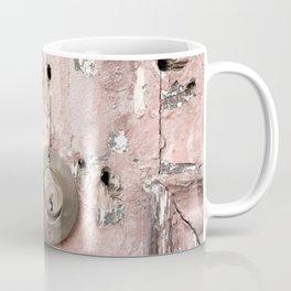 Pink Rusty Door Coffee Mug