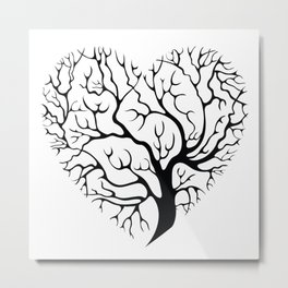 A Rooted Heart Metal Print