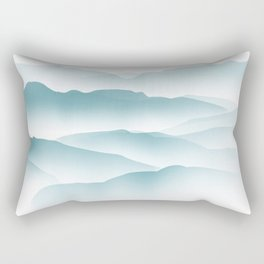 blue minimalist clouds Rectangular Pillow