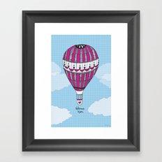 Hot Air Balloon, Spanish Framed Art Print