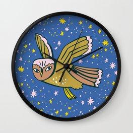 Shine Bright Owl Wall Clock