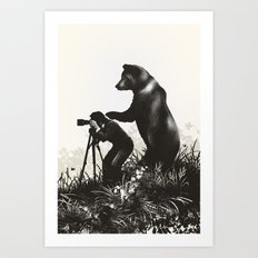 The Bear Encounter II Art Print