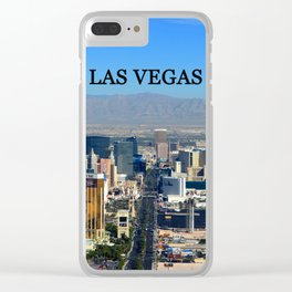 Las Vegas poster work A Clear iPhone Case
