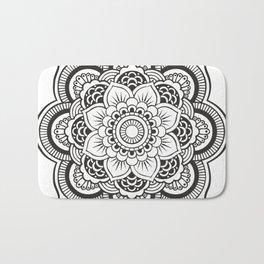 Mandala White & Black Bath Mat