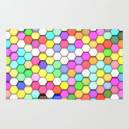 Colored Hexa Pattern Rug