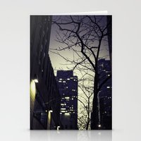 30 rock Stationery Cards featuring Morning  at 30 Rock by Benjamin Hunter