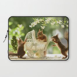 squirrels with stroller Laptop Sleeve