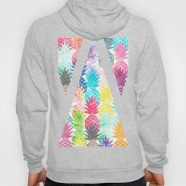 Hawaiian Pineapple Pattern Tropical Watercolor Hoody