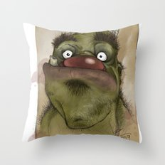 Ogre George Throw Pillow