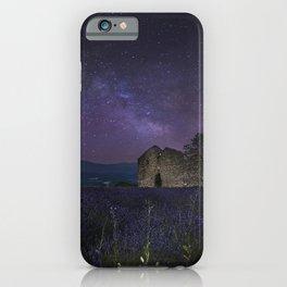 Stars France Valensole Nature Sky Ruins Fields Lavandula Night lavender night time iPhone Case