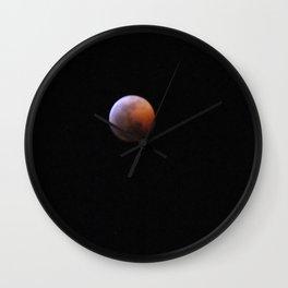 Mars On the Moon  Wall Clock