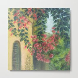 Picturesque patio_Pastel painting Metal Print
