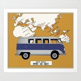 Route Map Art Print