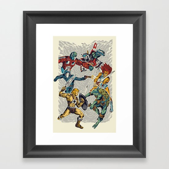 80's Smash Framed Art Print