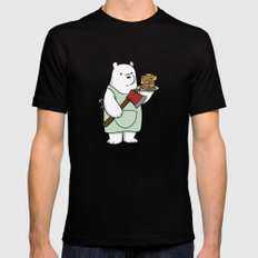 Ice Bear likes pancakes Black Mens Fitted Tee MEDIUM