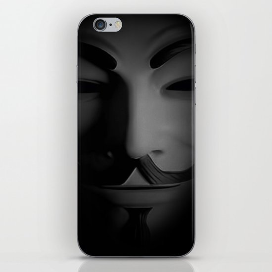 Men in a Mask iPhone & iPod Skin