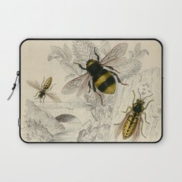 Naturalist Bee And Wasps Laptop Sleeve