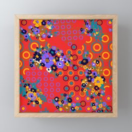 Original 70s Psychedelic Fabric Framed Mini Art Print