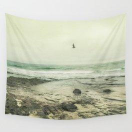 Flying Solo - California Coast Beach Modern Home Decor Wall Tapestry