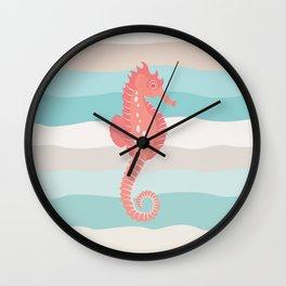 AFE Coral Seahorse Wall Clock