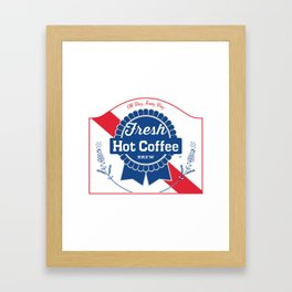 Blue Ribbon Roast Framed Art Print