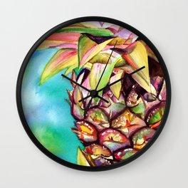 Delightful Pineapple Wall Clock