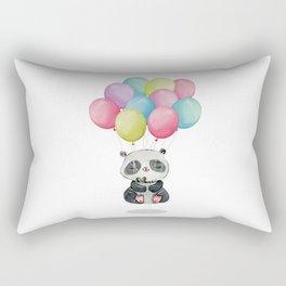 Panda Bear Floating Meditation Rectangular Pillow