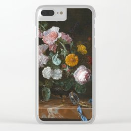 Willem Van Aelst - Vanitas Flower Still Life Clear iPhone Case