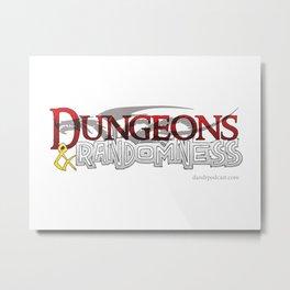 D&R Logo Metal Print