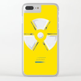 Polluted - Dinner Time Clear iPhone Case
